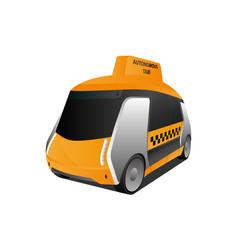 Autonomous self driving taxi vector