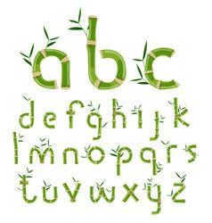 bamboo eco alphabet vector image