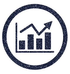 bar chart trend rounded grainy icon vector image