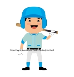 Baseball club player field label design vector
