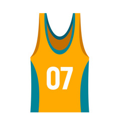 Basketball vest icon flat style vector