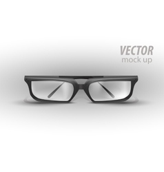 Black Eye Glasses Isolated on White vector