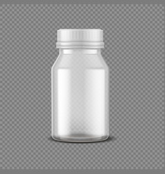 blank pills bottle realistic medical container vector image