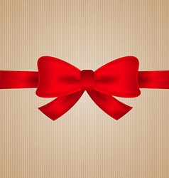 Brown cardboard with red bow vector