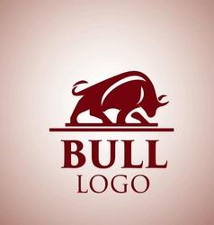 Bull logo 4 vector