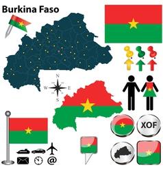 Burkina Faso map vector image