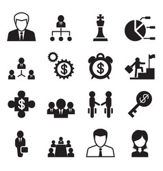 Business management human resource icons set vector