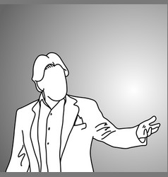 Businessman presenting something vector
