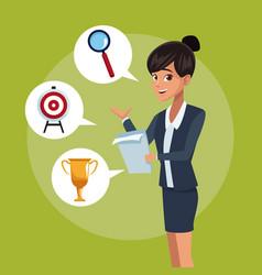 Businesswoman executive cartoon vector