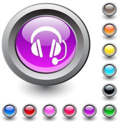 Call center round button vector