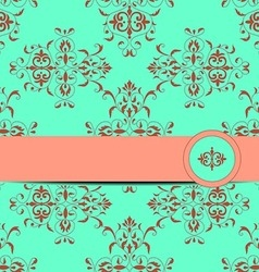 card with seamless vintage ornament vector image