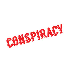 conspiracy rubber stamp vector image