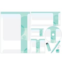 Corporative Design Template vector image