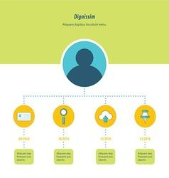 Design Timeline Infographic green blue and yellow vector