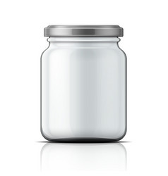 Empty glass jar with screw cap vector image
