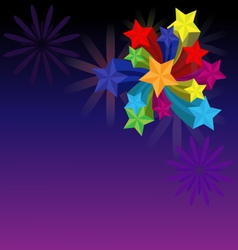 Firework with stars vector image