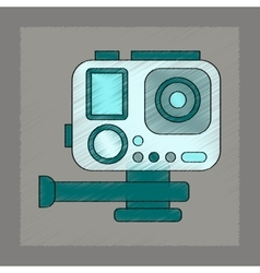 Flat shading style icon technology camcorder vector
