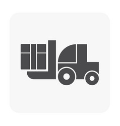 forklift icon black vector image