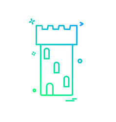 fort icon design vector image