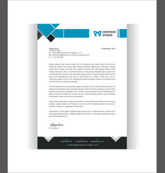 Geometric modern letterhead template vector