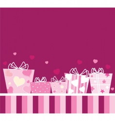 Gifts for lovers vector