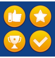 Golden gamification badges vector