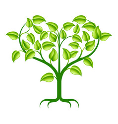 Green heart tree vector