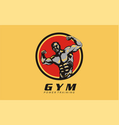 gym power training design logo for gym vector image