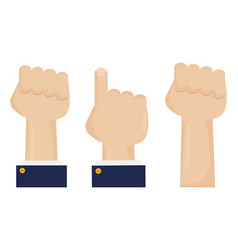 hands fist force icon vector image