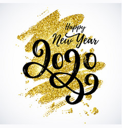 Happy new year 2020 card vector