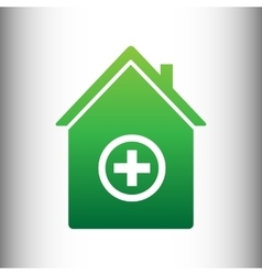 Hospital sign Green gradient icon vector