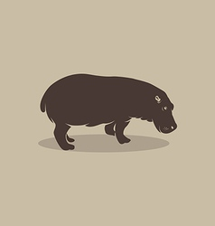 image an hippopotamus vector image