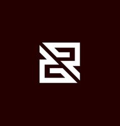 initial letter gr logo template vector image