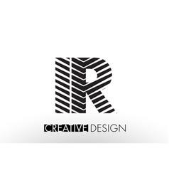 Ir i r lines letter design with creative elegant vector