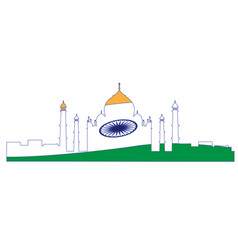 isolated cityscape of new delhi vector image