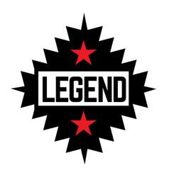 Legend stamp on white vector