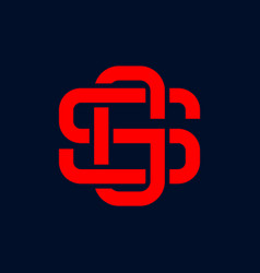 letter sg initial logo vector image