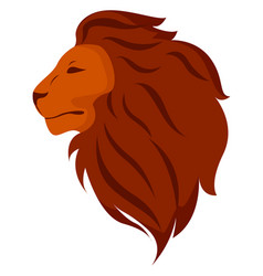 lions head on white background vector image