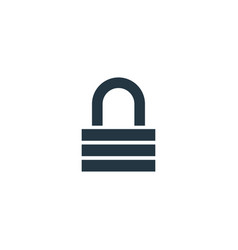 lock icon simple element for web and vector image