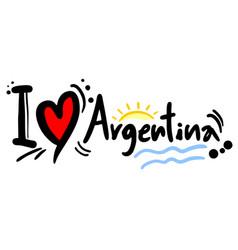 Love argentina vector