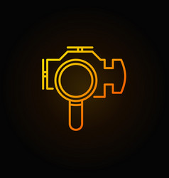 magnifying glass with check engine icon vector image