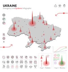 Map ukraine epidemic and quarantine emergency vector