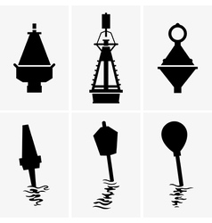 Marine buoys vector