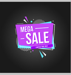 Mega sale fun background vector