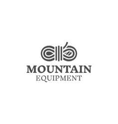 Mountain equipment badge outdoors logo emblem vector image