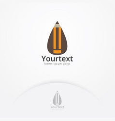 pencil drop logo vector image