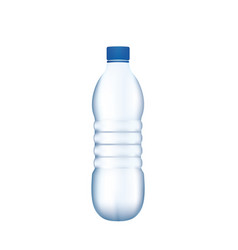 plastic water bottle on white background vector image
