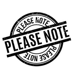 please note rubber stamp vector image