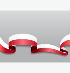 polish flag wavy abstract background vector image