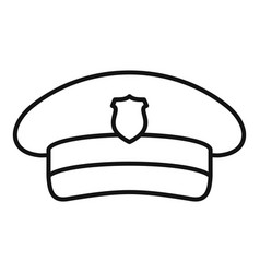 Postman cap icon outline style vector
